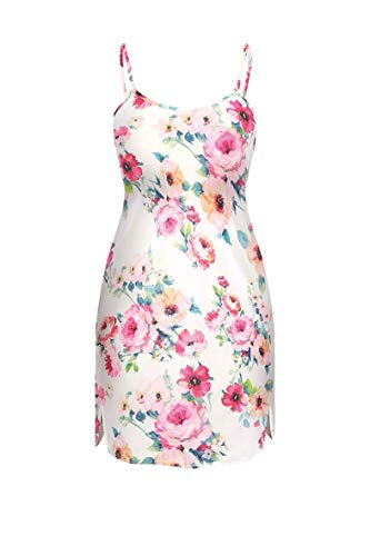 unikat - Rose - Damen Unterrock Petticoat In Flowers Sexy Nachthemd (Small)