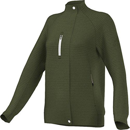 adidas Outdoor Everyhike - Sudadera de Forro Polar para Mujer, Mujer, Color Verde Crafty, tamaño Large
