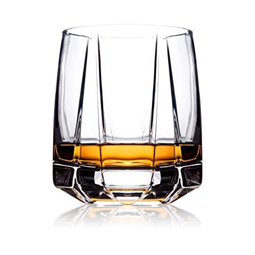 Whiskygläser 2er Set | altmodische Gläser für Scotch Whisky, Bourbon und Cocktails | mundgeblasene Scotch-Gläser mit dickem beschwertem Boden | The Isla Glass