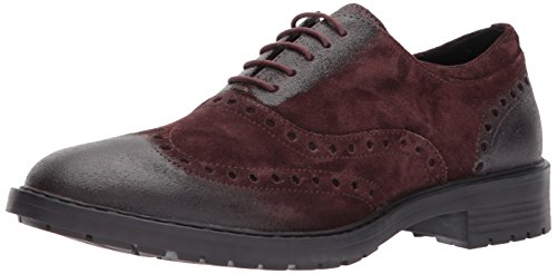 Geox U KAPSIAN A, Zapatos de Vestir Hombre, Rojo (Dk Burgundy), 41 EU
