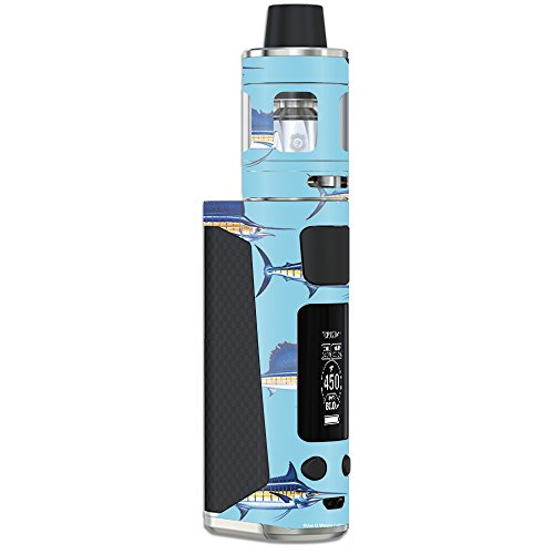 MightySkins Skin Compatible with Joyetech eVic Primo Mini – Billfish Stripes | Protective, Durable, and Unique Vinyl Decal wrap Cover | Easy to Apply, Remove, and Change Styles | Made in The USA