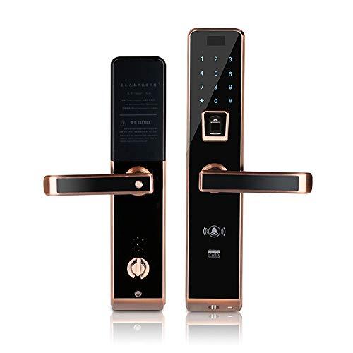 AjAC Digitale vingerafdruk, Smart Lock, biometrische wachtwoord, elektronisch, touch-toetsenbord, deurvergrendeling met mechanische sleutels en kaarten, meerdere vakken om te ontgrendelen