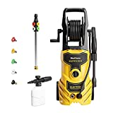 Upgraded WestForce 3350 PSI Electric Pressure Washer, 1.85 GPM Electric Power Washer, 1800 W High Pressure Cleaner Machine with 5 Nozzles, Hose Reel, Detergent Tank for Cleaning Car, Home, Patios