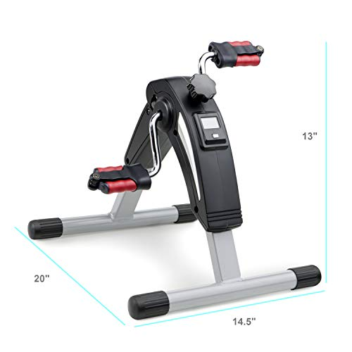 Marcy Portable Mini Magnetic Cardio Cycle Under Desk Bike Pedal Exerciser for Home Gym and Office NS-914