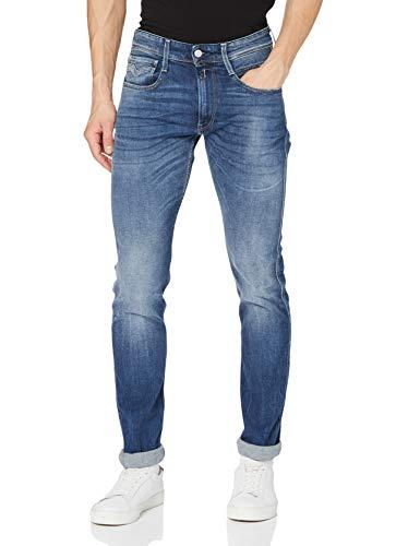 REPLAY Anbass Jeans, Blu (Blu Medio 05), 29W / 30L Uomo