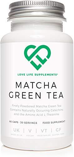LLS Té verde japonés matcha | Potente antioxidante que protege las células del estrés oxidativo | Sin agentes de carga: solo matcha puro | 60 cápsulas | Producido en el Reino Unido bajo certificación GMP