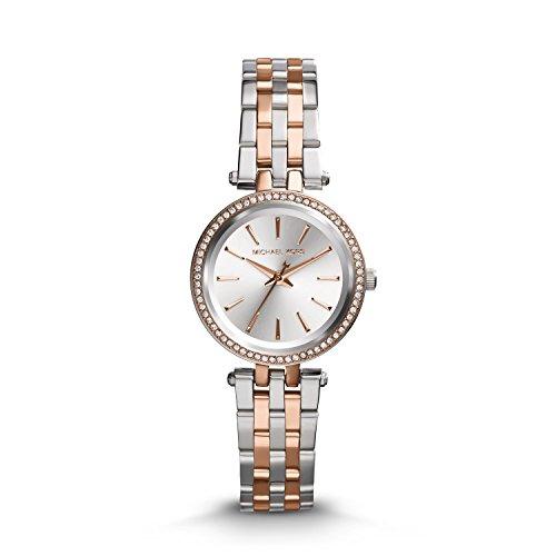 Michael Kors Damen Analog Quarz Uhr mit Edelstahl Armband MK3298
