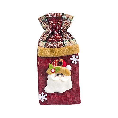 Brownrolly 1pc Christmas Wine Bottle Cover, wijnflesjurk, cadeauzakje, voor feest eettafel kerstfeest decoraties pole