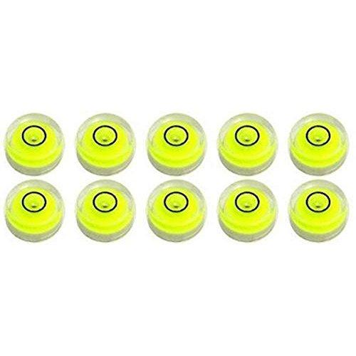 10 Pack Bubble Spirit Level Degree Mark, 10x6mm Circular Bullseye Level Measuring Instruments Spirit Level, Use for Tripod, Phonograph, Turntable (10x6mm)