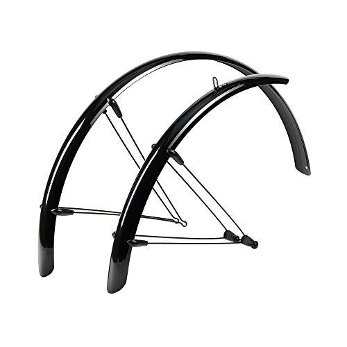 Hebie Unisex– Erwachsene Schutzblechset-2255596307 Schutzblechset, schwarz, 53mm