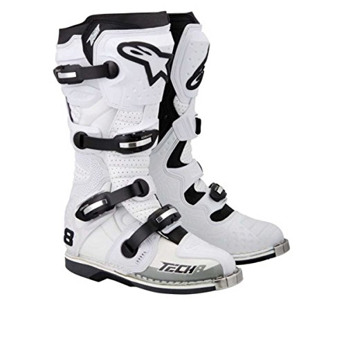 Alpinestars Tech 8 RS - Stiefel, Farbe Weiss-perforiert, Größe US 8 (EU 42)