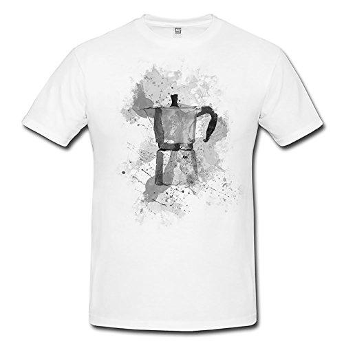 Espressokocher T-Shirt Frauen, Mädchen mit stylischen Motiv von Paul Sinus