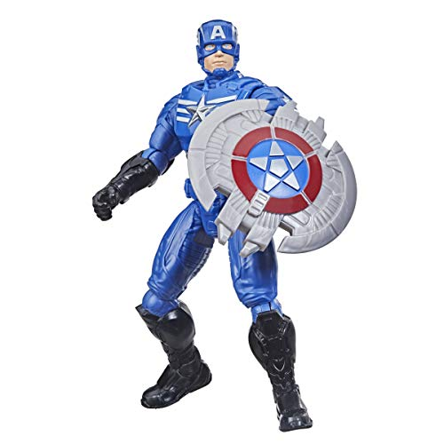 Avengers Hasbro Marvel Mech Strike 6-inch Scale Action Figure Toy Captain America with Compatible Mech Battle Accessory, for Kids Ages 4 and Up
