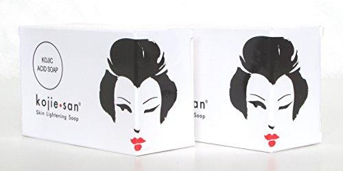 Kojie San 135G Barre de savon éclaircissant blanchissant anti-acné à l'acide kojique 135 g