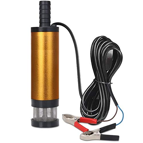 Yuanxianglong Multifunktionale 12-V / 24-V-Ölpumpe, Ölwechselpumpenabzieher Mit Filter, Mini-Tauchwasserpumpe Für Den Yachthafen Von Kraftfahrzeugen (24V,51MM)