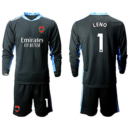 Lěnǒ Kids Fussball Jersey Set - Arsěnǎl 2021 Neue Torhüter Fußball Jersey Langarm Fans Sweatshirt / 1# Black-M