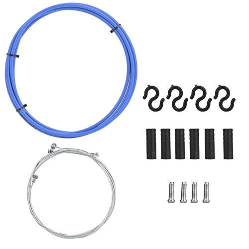 WolfGo Cable de Freno de Bicicleta - Bicicleta de Carretera de montaña Carcasa del Cable de Freno de Bicicleta Kit de Tapas de Manguera Reemplazo de Ciclismo(Azul)