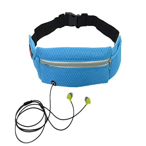 ZKDY Deportes Al Aire Libre, Correr Y Montar A Caballo Cerca del Cuerpo Invisible - Bolsa Multifuncional,Azul Cielo