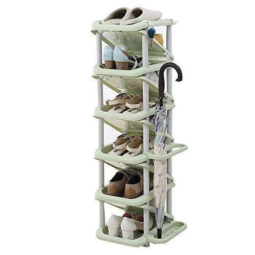 DMMSS Zapato, Rack de Zapatos Almacenamiento Multi-Capa Precio Especial Simple Zapato Gabinete, Económico Simple Moderno Modelo Multifuncional Sala de Estar Plastic Hogar,C