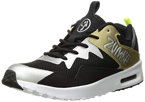 Zumba Fitness Air Classic Fashion Dance Workout Shoes, Zapatillas de Deporte para Mujer, Dorado (Gold/Black 710), 45 EU