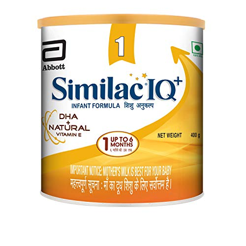 Similac IQ+ Stage 1 Infant Formula DHA + Natural Vitamin E -400g, up to 6 months