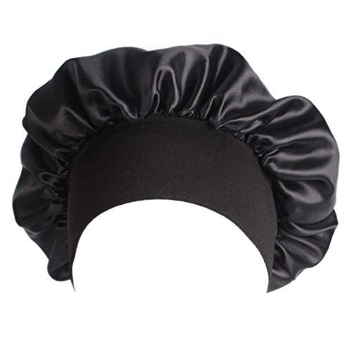 erticvtiu LINhuahua 1 Stück Satin Motorhaube Nacht Schlafmütze Schlafhaube für Frauen Mädchen Schlafende Haarpflege Cap Chemo Beanie