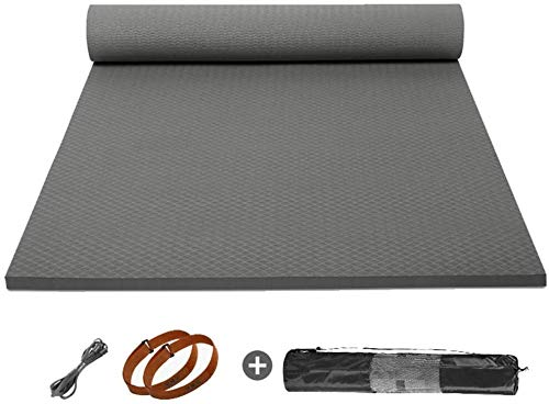 Yoga Mat for Men, 10 mm Thick Large Non-Slip Fitness Exercise Mat, High Density Anti-Tear Travel Mat for All Types of Yoga, Odorless Lightweight and Thick
