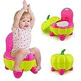 UNHO Pot Bébé Toilette de Voyage Portable Design Amusant pour Enfant Dossier...