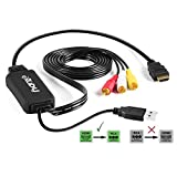 HDMI to RCA Cable Converts Digital HDMI Signal to Analog RCA/AV – Works w/TV/HDTV/Xbox 360/PC/DVD & More – All-in-One Converter Cable Saves You Money - HDMI to AV Converter
