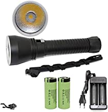 Flashlights,LED Yellow/White Light 4000 Lumens Diving Flashlight 26650 Torch Underwater 100M Xhp70.2 Spearfishing Led Divi...