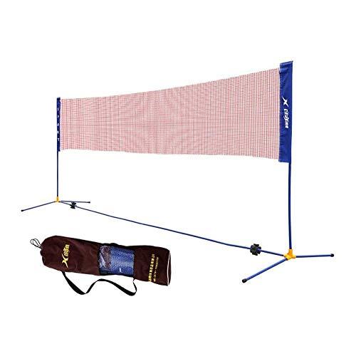 Mnjin Badminton-Netzset für den Außenbereich, tragbares Badminton-Set für zu Hause Badminton-Schlägerset.Verstellbare Tennis-Volleyballnetze für Innen- oder Außenplätze, Strände
