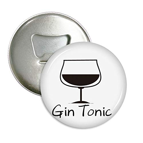 DIYthinker Silhouette Van Gin Tonic Cocktail Ronde Fles Opener Koelkast Magneet Pins Badge Button Gift 3 stks