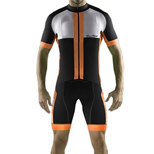 Uglyfrog 2021 MTB Bike Wear De Manga Corto Maillot+ Pantalones Cortos Mangas Cortas de Ciclismo Ropa Maillot Transpirable para Deportes al Aire Libre Cicl