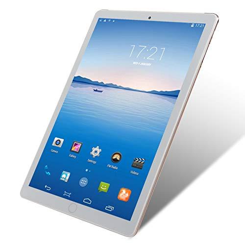 FJYDM Tableta De 10.1 Pulgadas, Tabletas De Almacenamiento ROM De 2GB RAM 16GB, Procesador 4000Mah 8 Core, Pantalla De Alta Definición, Tabletas Android Cuerpo De Metal,Blanco