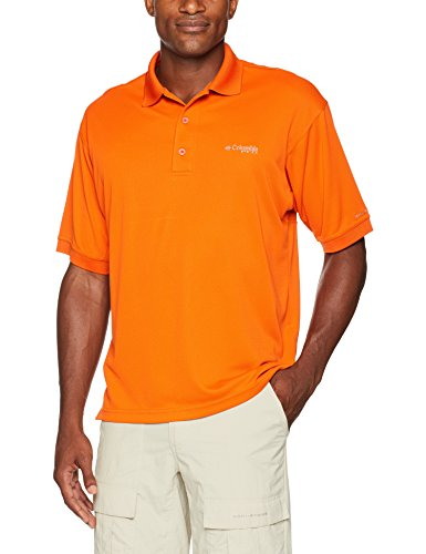 Columbia Men's Perfect Cast Polo Shirt, Backcountry Orange, XX-Large
