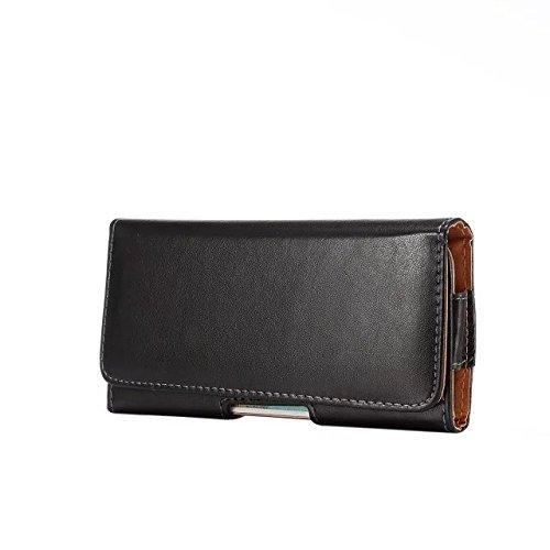 PU Leder Quertasche Executive Holster mit drehbarem Gürtelclip Tasche für iPhone 8/Google Pixel 2/Motorola Moto E4/G5/LG X Venture/Huawei P10/Samsung Galaxy J1J2Prime, schwarz