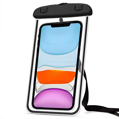 Marvorem Funda Impermeable Compatible con Xiaomi Mi 9 acuatica Sumergible estanca Certificado IPX8 Bolsa Resistente al Agua Waterproof Case (Negra)