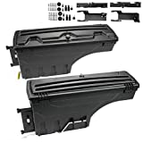 2Pack Lockable Truck Bed Storage Toolbox Swing Case Replacement For Ford 2015-2019 F150 F-150 Driver+Passenger Side Tool Box