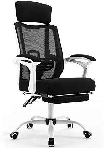 BeingHD Qualitätsbürostuhl, Bürostuhl mit Armlehne Spielstuhl Computerstuhl Justierbare Lordosenstütze Bürostuhl Mesh Chair (Color : White)