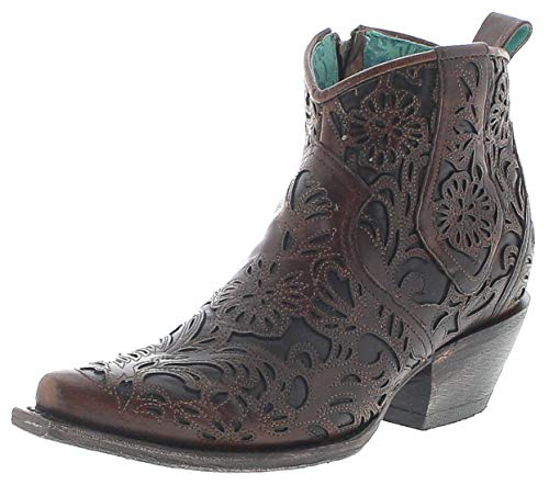 Corral Boots Damen Stiefelette G1496 Lederstiefelette Westernstiefelette Braun 40 EU