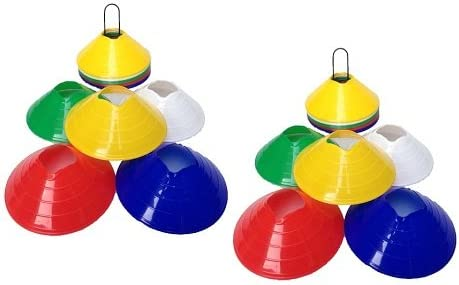 CW Set of 50 Agility Disc Track  Field Marker Cones with Holder