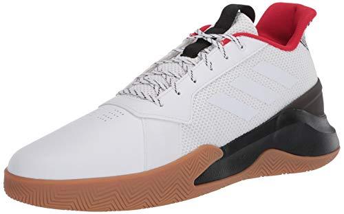 adidas Men's RunTheGame Basketball Shoe, FTWR White/FTWR White/core Black, 10.5