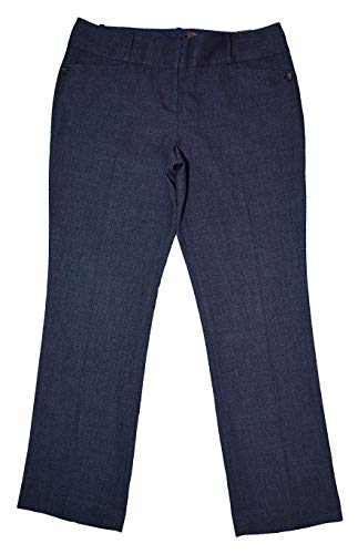 The Limited Womens Cassidy Fit Slim Bootcut Slacks Pants (Navy, Size 14)
