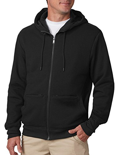 SCOTTeVEST Hoodie Cotton - Sweatshirts for Men with Pockets - Travel Clothing (BLK, L)