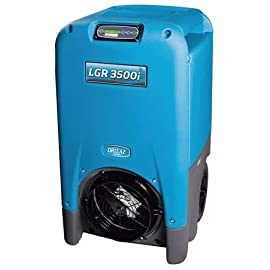 "Low-Grain Portable Dehumidifier, Blue, 2775 RPM Speeds, 115V 2 Price For: Each Width: 23"" Color: Blue Fan Speed: 2775 RPM Power Cord Length: 25 ft. Refrigerant Charge: 30 oz. Cabinet Material: Polyethylene Rotomolded Depth: 24"" Amps: 10.5 Capacity/24 Hrs. @ 60% RH: 170 pt. Application: For Tough Environments Found In Water Damage Restoration Construction, and Rental Use Refrigerant Type: R-410a Ambient Temp. Range: 33 Degrees to 100 Degrees F Max. Lift: 20 ft. Humidity Range: 20 to 99 RH Agency Compliance: ETL Certified to UL 474 and CSA 22.2 No. 92, AHAM NEMA Plug Configuration: 5-15 Capacity/24 Hrs. @ 90% RH: 242 pt. Defrost Type: Fan Bypass Voltage: 115V Includes: Power Cord and (1) 40 ft. Drain Hose Height: 40-1/2"" Number of Caster Wheels: 2 Item: Low-Grain Portable Dehumidifier Fan CFM: 400 Hz: 60 Filter: 3M HAF Bucket Capacity: 242 pt. Country of Origin (subject to change): United States"