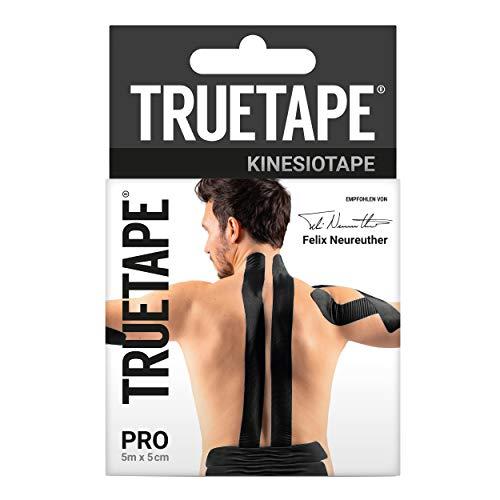 TRUETAPE® PRO 5m x 5cm Rolle - Kinesiotapes | wasserfestes & elastisches Kinesiologie Tape für den Sport | Physiotape |