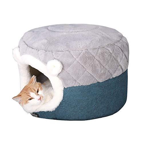 EREW Cama de gatos casa de felpa suave perrera cojín de perrera perros pequeños gatos nido invierno cálido dormir mascota cama mascota mascota Mat suministros