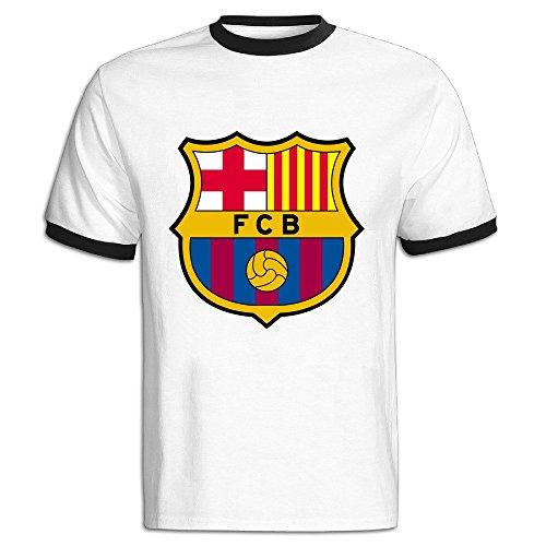 FENGTING Men's Fc Barcelona Logo T-shirt Size M Black