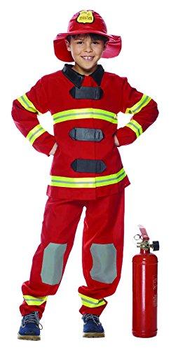 Rubie's IT30154-L kostuum voor kinderen, brandweer, L