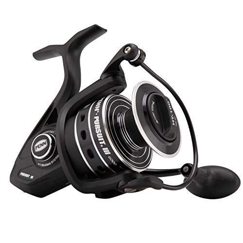 Penn Unisex's Pursuit III 6000 Spinning Reel, Black, One Siz